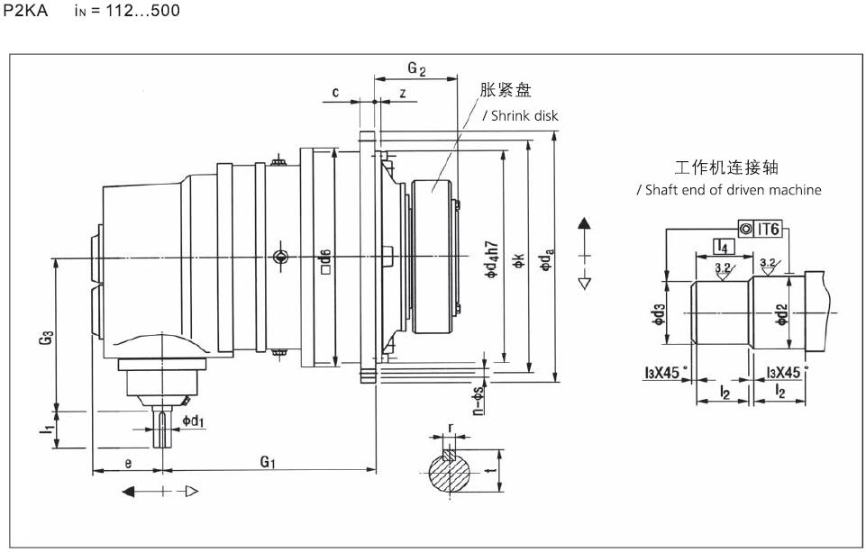 p2ka18 planetary gearbox for apron conveyor