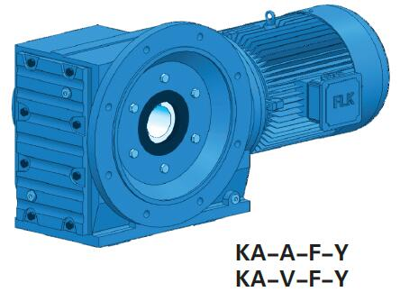 Right Angle Hollow Shaft Helical Bevel Gearbox and Motor